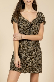 Pretty Little Things Leopard Puff-Sleeve Dress - Product Mini Image