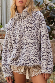 POL  Leopard Pullover Jacket - Product Mini Image