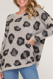 She + Sky Leopard Pullover Sweater - Product Mini Image