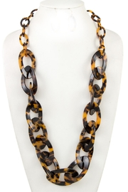 Embellish Leopard Resin Necklace - Product Mini Image