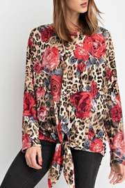 American Fit Leopard Rose Top - Product Mini Image