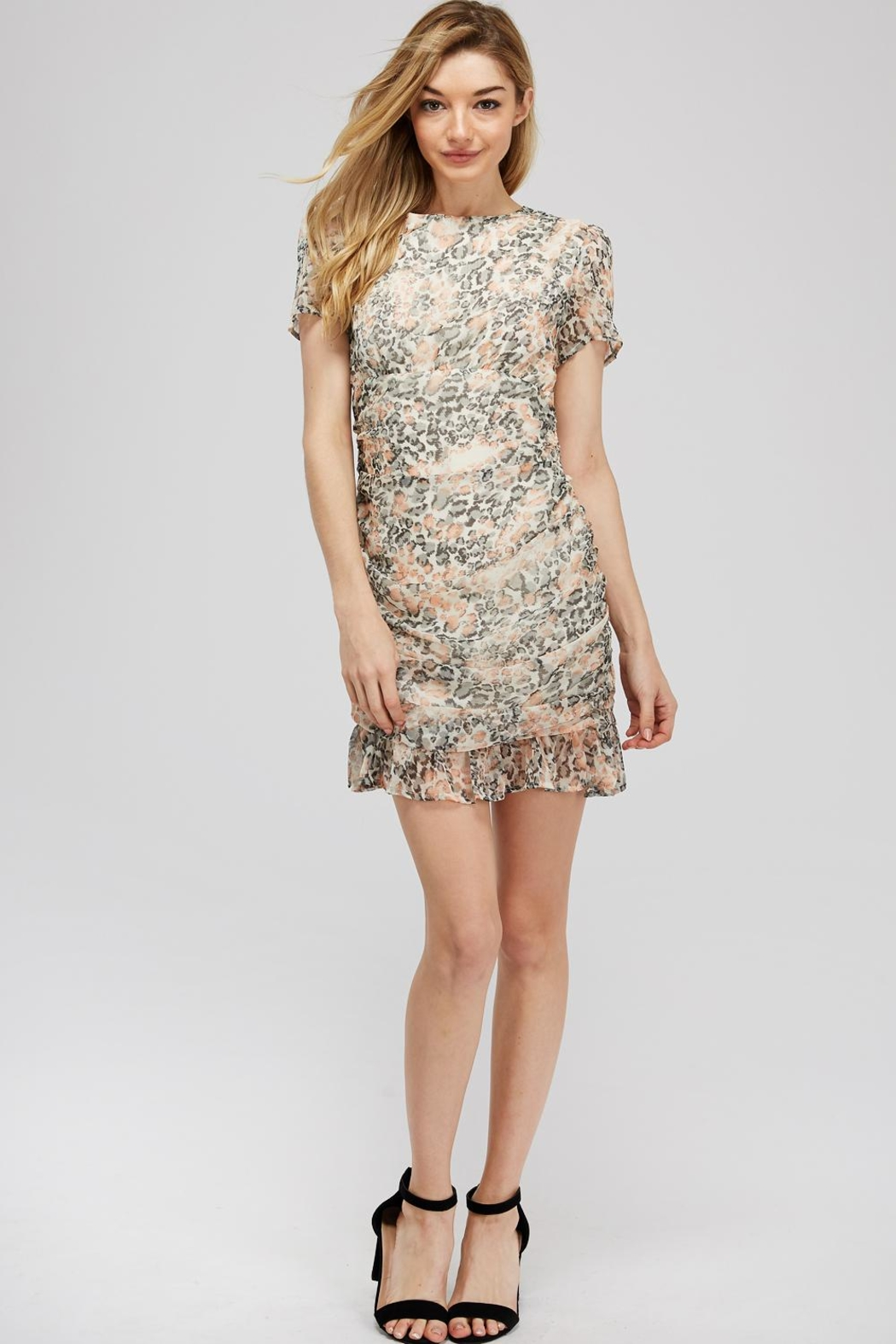 storia Leopard Ruched Dress - Main Image