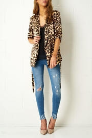frontrow Leopard Satin Blazer - Product Mini Image