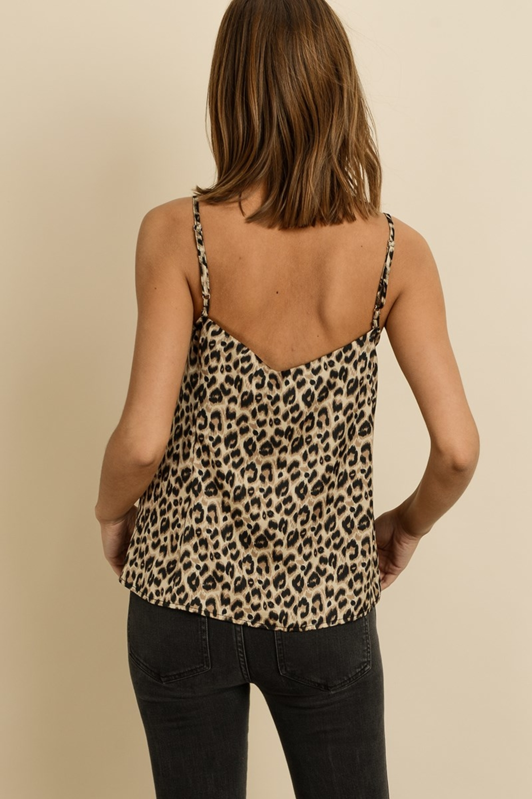 dress forum Leopard Satin Cami - Front Full Image