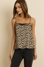 dress forum Leopard Satin Cami - Front cropped