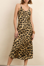 Dress Forum  Leopard Satin Midi Slip Dress - Product Mini Image