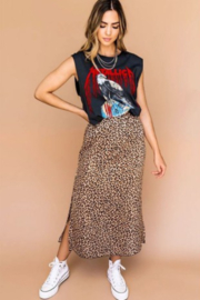 Timing Leopard Satin Skirt - Product Mini Image