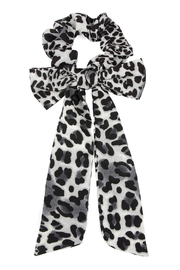 Riah Fashion Leopard-Scarf Bow-Scrunchies Hair-Band - Product Mini Image