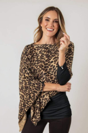 Simply Noelle Leopard Shawl Poncho - Product Mini Image
