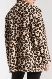 z supply Leopard Sherpa TB Coat - Side cropped