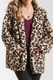 z supply Leopard Sherpa TB Coat - Product Mini Image