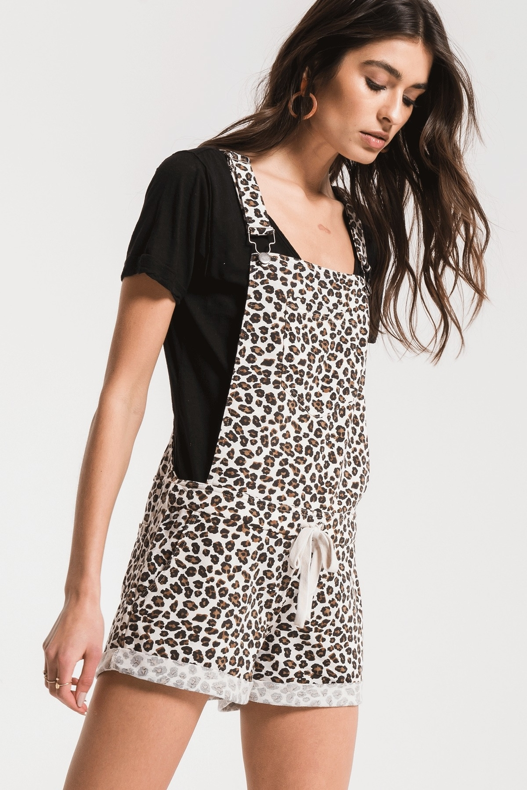 z supply Leopard Short Overall - Front Full Image
