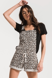 z supply Leopard Short Overall - Front cropped
