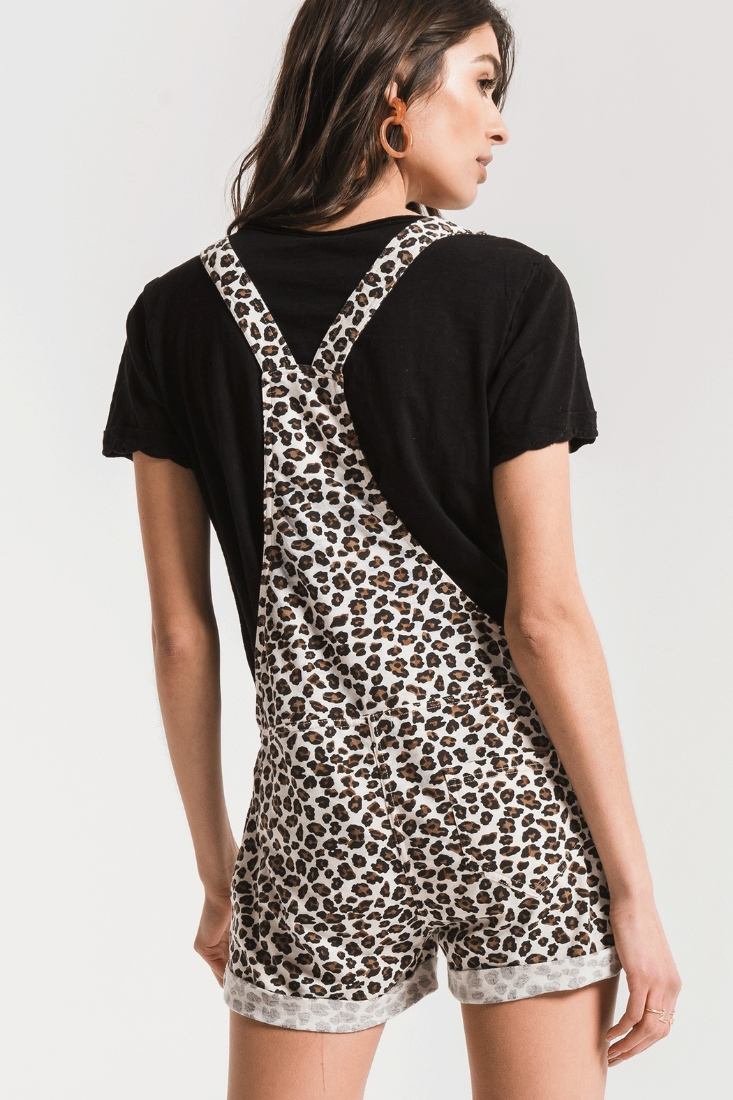 z supply Leopard Short Overall - Side Cropped Image