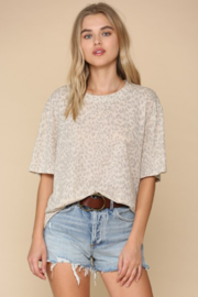 By Together  Leopard Short Sleeve Crew Tee - Product Mini Image