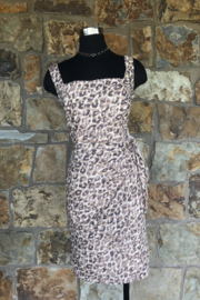 Forest Lily Leopard Side Tie Dress - Product Mini Image