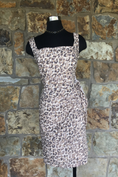 Shoptiques Product: Leopard Side Tie Dress