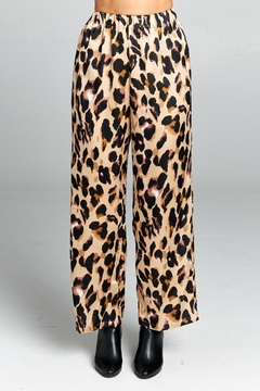 Racine Leopard Silk-Palazzo Pants - Alternate List Image