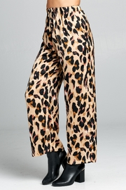 Racine Leopard Silk-Palazzo Pants - Product Mini Image