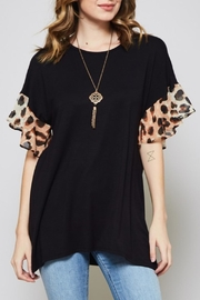 Beeson River Leopard Sleeve Top - Product Mini Image