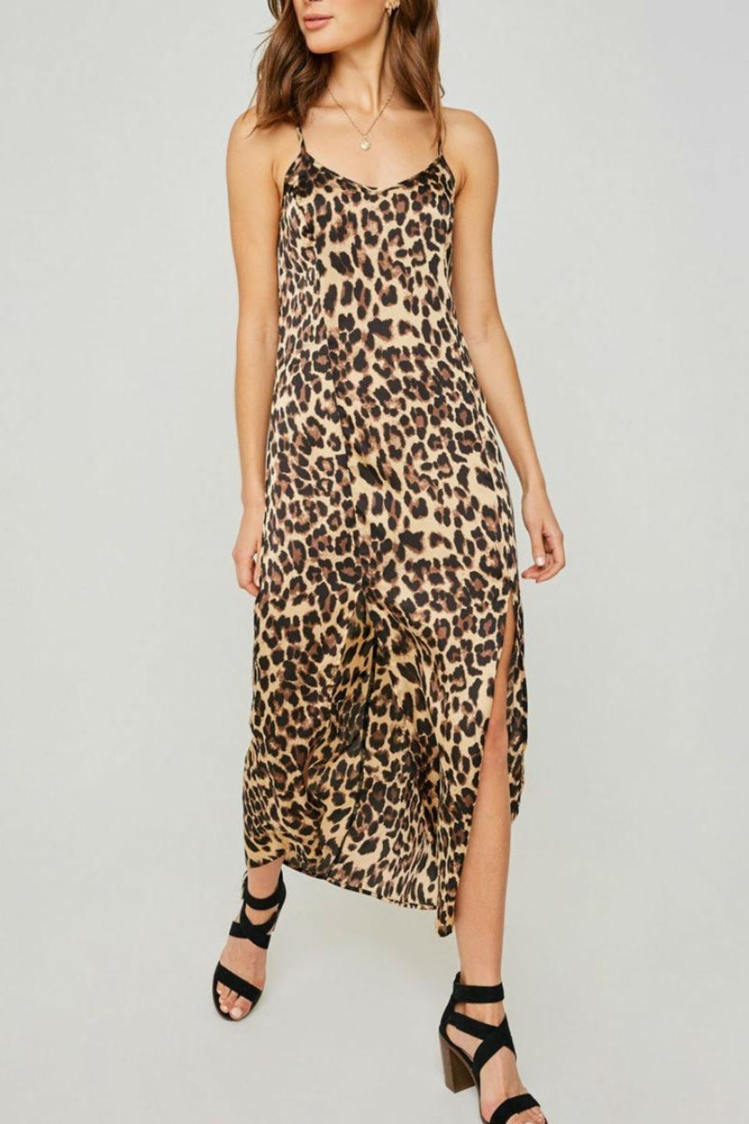 9e2764d8d499ce Hayden Los Angeles Leopard Slip Dress from Brooklyn by Glam ...