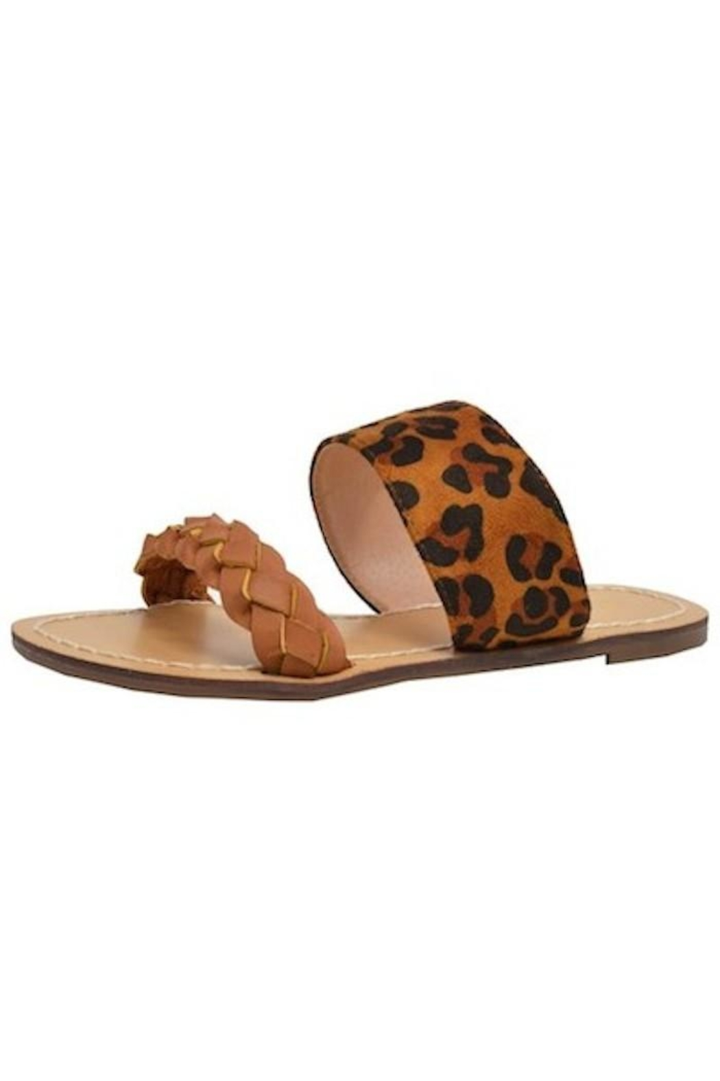Yipsy Leopard Slip-On Sandal - Front Cropped Image
