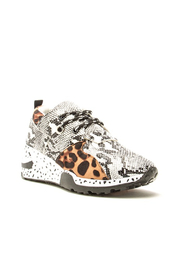 Qupid Leopard/Snake Sneaker - Product Mini Image