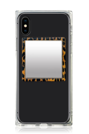 iDecoz Leopard Square Phone Mirror - Front cropped