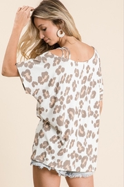Macaron Leopard Strapped One Shoulder - Front full body