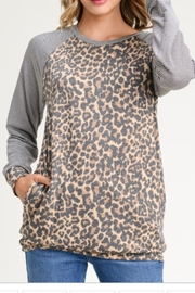 First Love Leopard Stripes Top - Product Mini Image