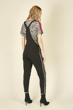 Vintage Havana  Leopard Striping Overall Jumpsuit - Alternate List Image