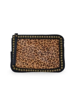 Shoptiques Product: Leopard Studded Clutch