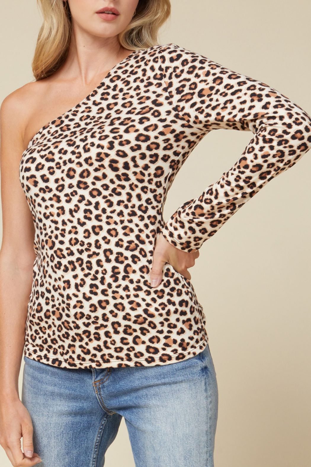 entro  Leopard Style Top - Front Cropped Image