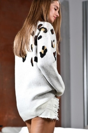 Mazik Leopard Sweater - Front full body