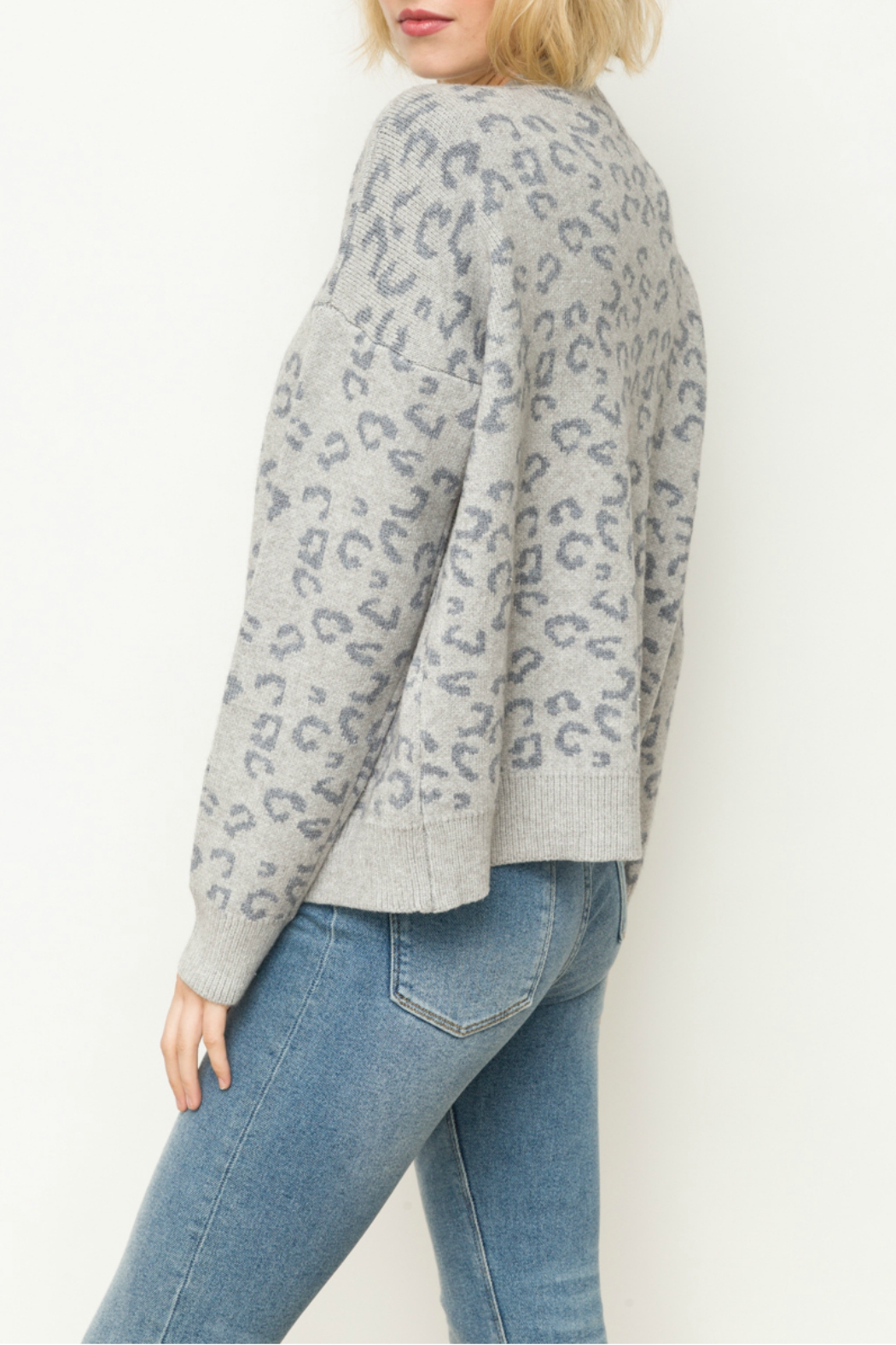 Mystree Leopard sweater cardigan - Front Full Image
