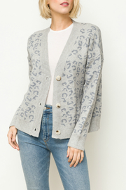 Mystree Leopard sweater cardigan - Front cropped
