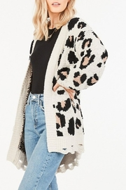 Very J  Leopard Sweater Cardigan - Product Mini Image