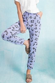 Easel  Leopard Sweatpants - Front cropped