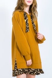 Very J Leopard Sweatshirt Dress - Product Mini Image