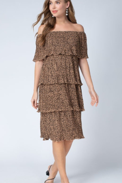 Entro  Leopard Tiered Dress - Product List Image