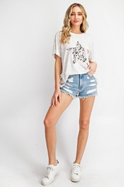 143 Story Leopard Top with Snake Print Star - Product Mini Image