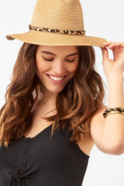 Giftcraft Inc.  Leopard Trim Straw Hat - Product Mini Image