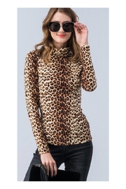 Polly & Esther Leopard Turtleneck Top - Product Mini Image