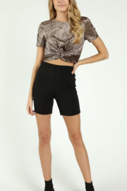 Honey Punch Leopard Twist Front Top - Product Mini Image