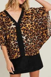 ee:some Leopard V-Neck Kimono - Front cropped