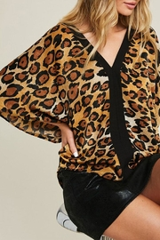 ee:some Leopard V-Neck Kimono - Other