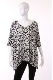 ENTI Leopard V-Neck Top - Product Mini Image