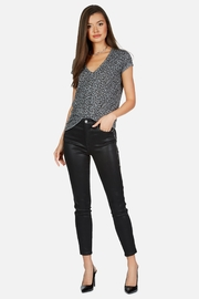 Michael Lauren Leopard Vneck Tee - Product Mini Image