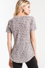 z supply Leopard Vneck Tee - Side cropped