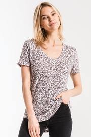 z supply Leopard Vneck Tee - Front cropped